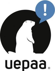 """Die Firma Uepaa hat es dem """"Murmeli"""" nachgemacht, Logo Handout by Uepaa"""