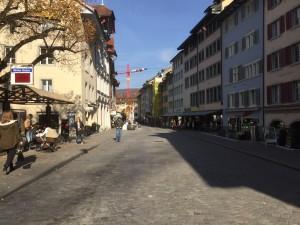 Die Läden an der Weiten Gasse spüren die Schuhausplatz-Bauerei, photo taken by ces